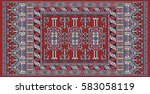 colorful oriental mosaic  kazak ... | Shutterstock .eps vector #583058119