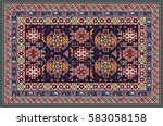 colorful oriental mosaic... | Shutterstock .eps vector #583058158