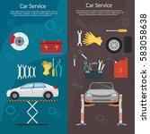 center mechanical car service... | Shutterstock .eps vector #583058638
