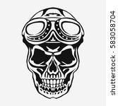 skull rider in helmet with... | Shutterstock .eps vector #583058704