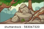 cartoon jungle background.... | Shutterstock .eps vector #583067320