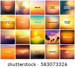 big set of 20 square blurred... | Shutterstock .eps vector #583073326