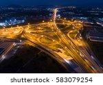 top view over the highway... | Shutterstock . vector #583079254