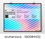 poster design. banner template. ... | Shutterstock .eps vector #583084420