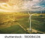 wind turbine from aerial view   ... | Shutterstock . vector #583086136