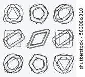 distress stamp overlay thin... | Shutterstock .eps vector #583086310