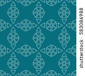 seamless geometric pattern of... | Shutterstock .eps vector #583086988