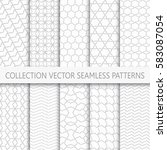 collection of geometric... | Shutterstock .eps vector #583087054
