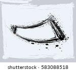 black paint  ink brush strokes  ... | Shutterstock .eps vector #583088518