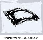 black paint  ink brush strokes  ... | Shutterstock .eps vector #583088554