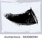 black paint  ink brush strokes  ... | Shutterstock .eps vector #583088584