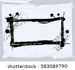 black paint  ink brush strokes  ... | Shutterstock .eps vector #583089790