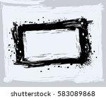 black paint  ink brush strokes  ... | Shutterstock .eps vector #583089868