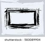 black paint  ink brush strokes  ... | Shutterstock .eps vector #583089904