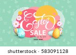 easter sale banner background... | Shutterstock .eps vector #583091128