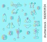 summer collection | Shutterstock .eps vector #583093924
