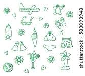 summer collection | Shutterstock .eps vector #583093948