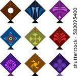 kite design collection vector... | Shutterstock .eps vector #583095400