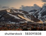 night skiing in park city  utah ... | Shutterstock . vector #583095838