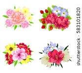 flower set | Shutterstock . vector #583101820