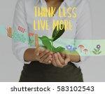 carpe diem live it up | Shutterstock . vector #583102543