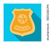 police badge icon in flat style ... | Shutterstock .eps vector #583106194