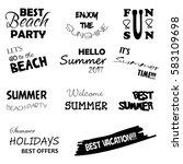 summer labels and design... | Shutterstock .eps vector #583109698