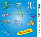 summer labels and design... | Shutterstock .eps vector #583109704