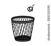 cartoon crumpled paper and... | Shutterstock .eps vector #583110190