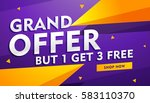 grand offer poster banner... | Shutterstock .eps vector #583110370