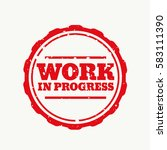 work in progress stamp in... | Shutterstock .eps vector #583111390
