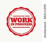work in progress stamp in... | Shutterstock .eps vector #583111390