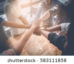 group of business people... | Shutterstock . vector #583111858