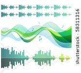 musical design elements | Shutterstock .eps vector #58311316