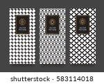 vector set packaging templates...   Shutterstock .eps vector #583114018