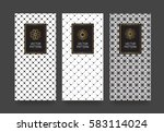 vector set packaging templates... | Shutterstock .eps vector #583114024
