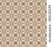 seamless ethnic geometric... | Shutterstock . vector #583120159