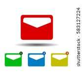 mail icon. isolated on white...