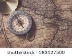compass on old map | Shutterstock . vector #583127500