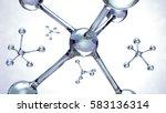 3d illustration of molecules... | Shutterstock . vector #583136314