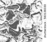 abstract grunge grid polka dot...   Shutterstock .eps vector #583138330
