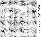 abstract grunge grid polka dot... | Shutterstock .eps vector #583138546