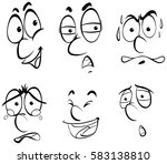 different facial expressions of ... | Shutterstock .eps vector #583138810