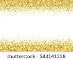gold glitter frame on white... | Shutterstock .eps vector #583141228