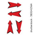 red vector arrow with shadow | Shutterstock .eps vector #583141564