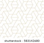 abstract geometric pattern with ... | Shutterstock .eps vector #583142680