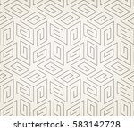 abstract geometric pattern with ... | Shutterstock .eps vector #583142728