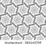 geometric flower. floral... | Shutterstock . vector #583143709