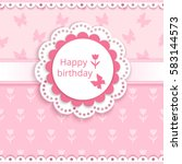 Baby Greeting Card With A Roun...