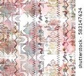 seamless pattern ethnic design. ...   Shutterstock . vector #583147624